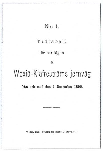 WKJ Tidtabell
