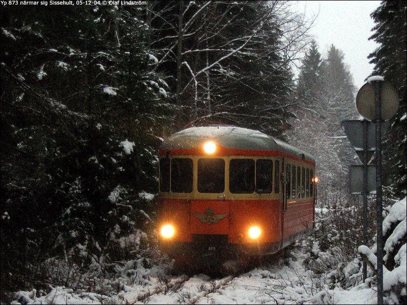 Rälsbuss på Smalspåret vintertid
