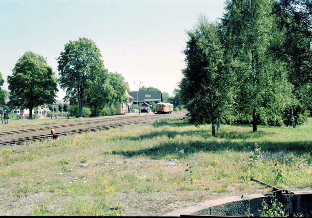 Bangården och stationen i Åseda