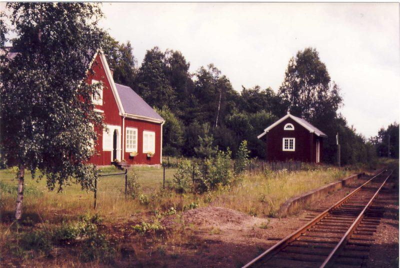 Flaten station, sommaren 1988