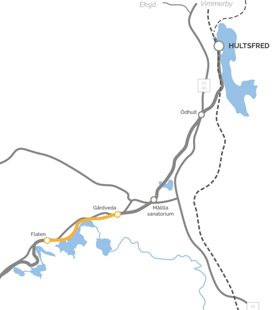 Karta Flaten-Gårdveda