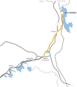 Karta Hultsfred - Målilla