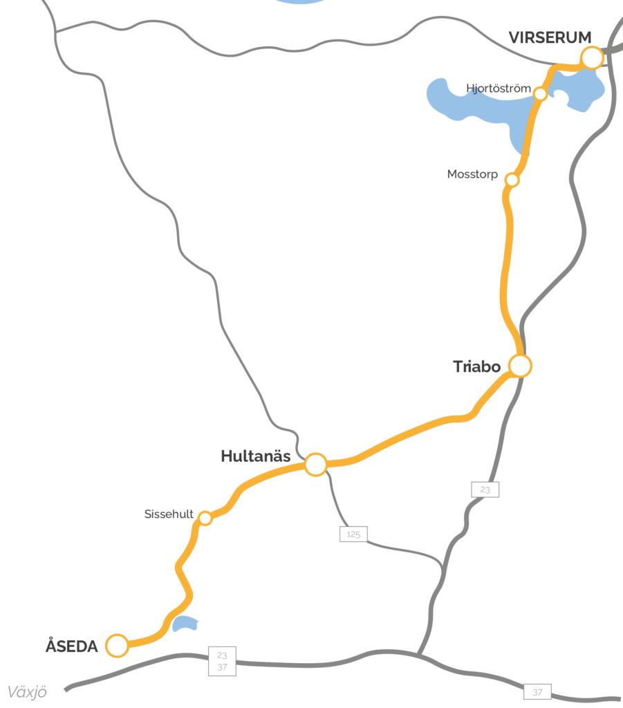 Karta Virserum-Åseda